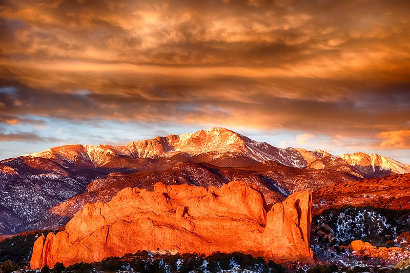 PIKES PEAK GARDEN OF THE GODS COLORADO MOUNTAIN LANDSCAPE Art Poster HD PRINT
