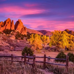 Garden of the Gods Fall Foliage