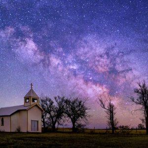 Church with Milky Way