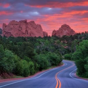 Garden of the Gods Sunrise Road