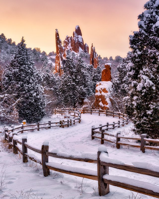 Garden of the Gods Winter Walking Path