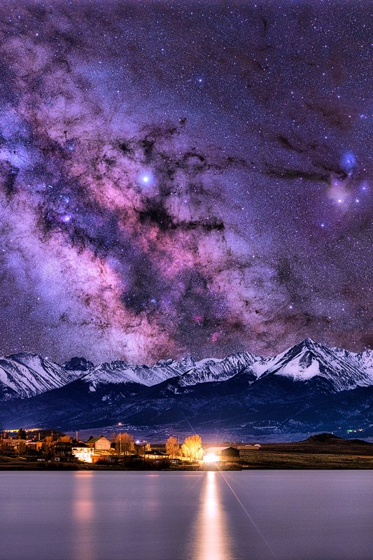 DeWeese Reservoir Milky Way