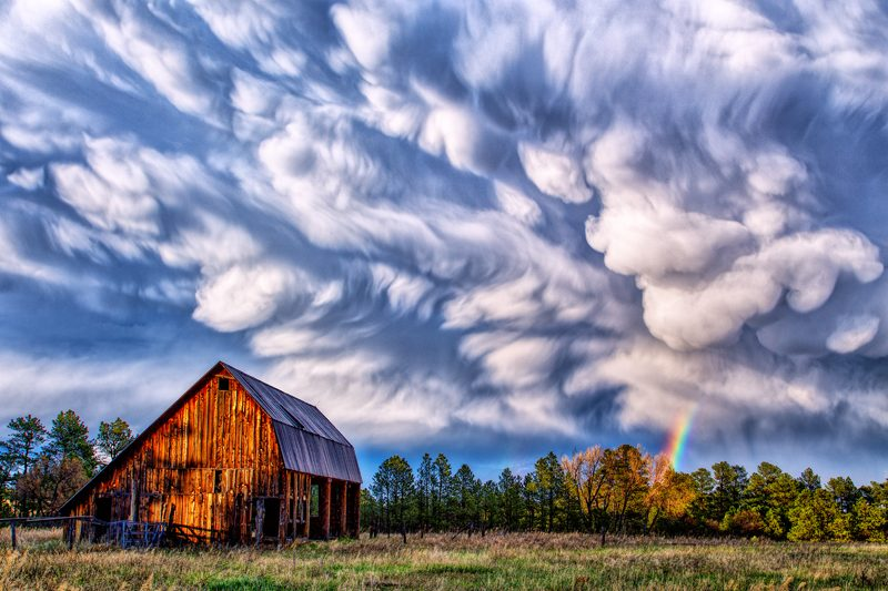 Barn with Summer Storm Clouds