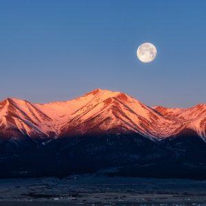 Mount Princeton Moonset