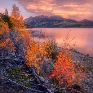 Twin Lakes Fall Foliage Sunrise