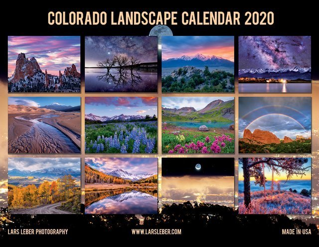 2020 Colorado Calendar Back Cover