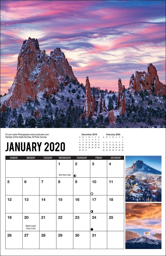 2020 Colorado Calendar January
