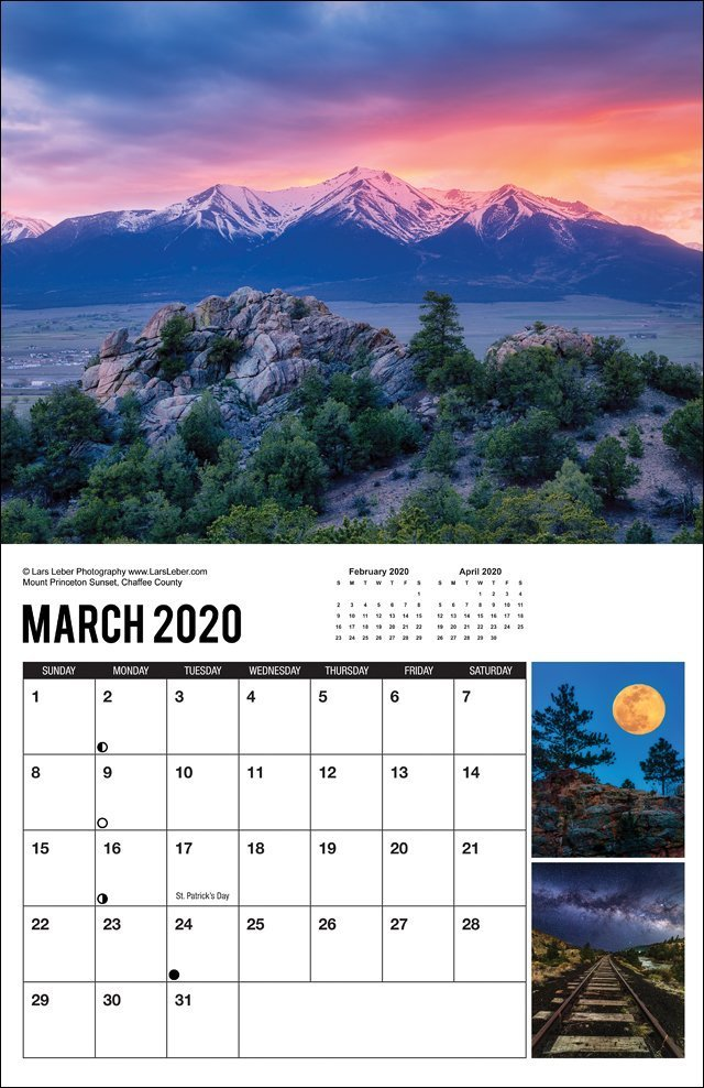 2020 Colorado Calendar March