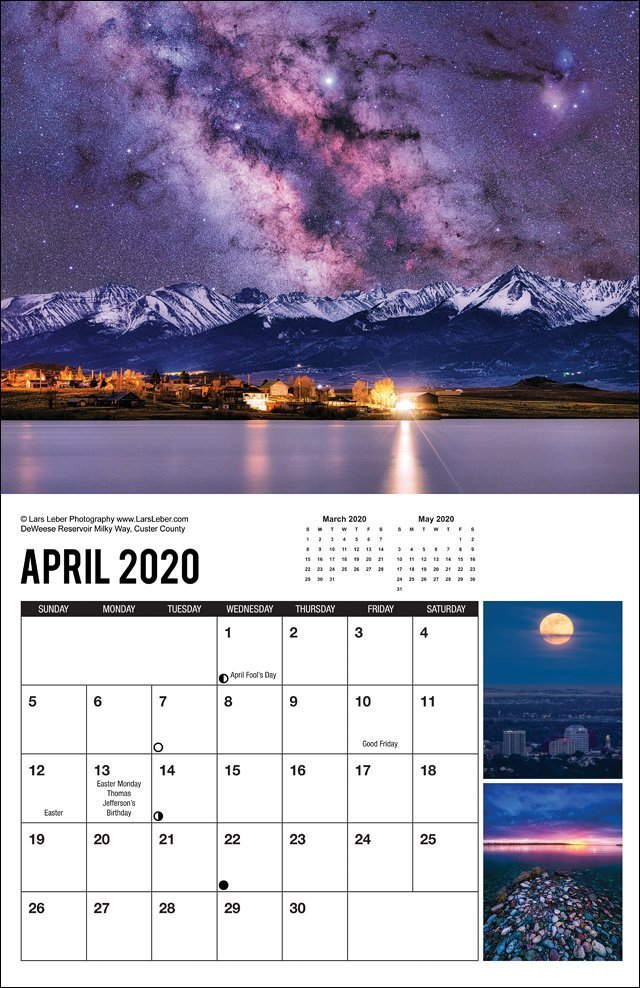 2020 Colorado Calendar April
