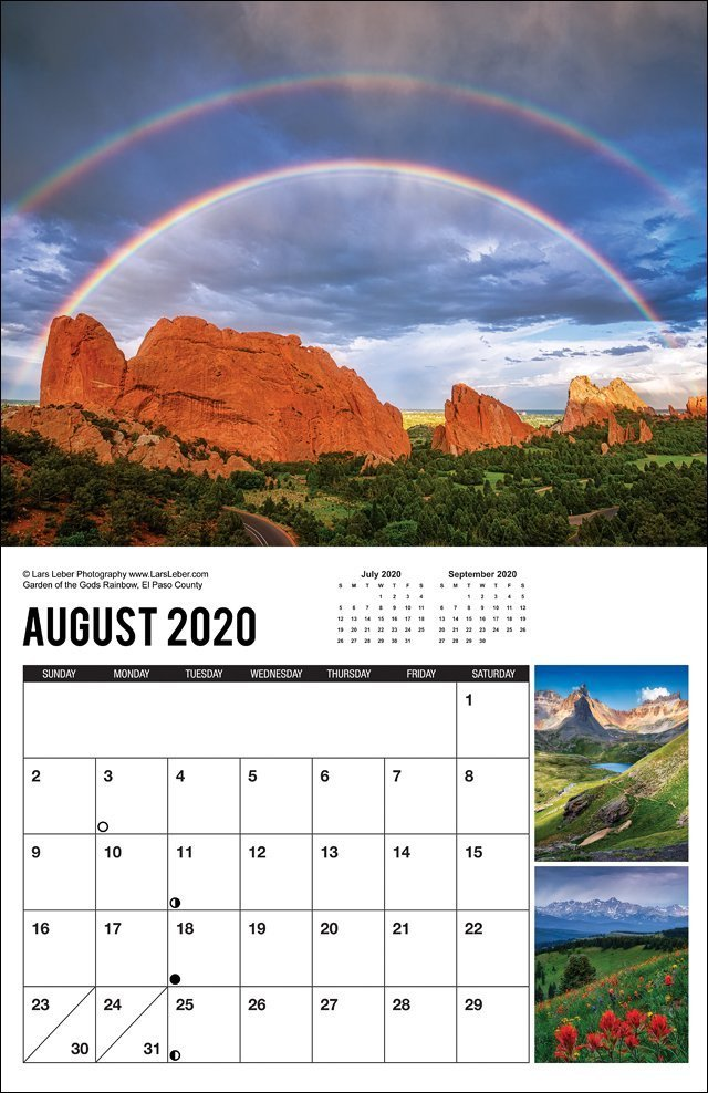 2020 Colorado Calendar August