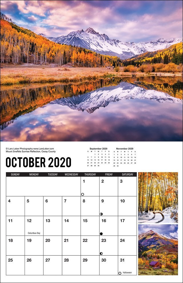 2020 Colorado Calendar October