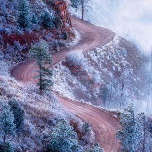 Rampart Range Road Frozen Fog