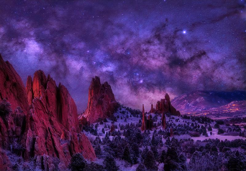 Garden of the Gods Milky Way