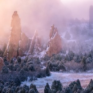 Garden of the Gods Foggy Winter Sunrise