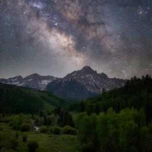 Mount Sneffels Milky Way