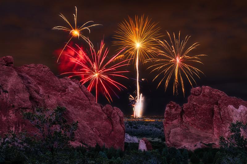 Garden of the Gods Fireworks