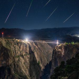 Royal Gorge Bridge Perseid Meteor Shower