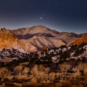Pikes Peak at Night