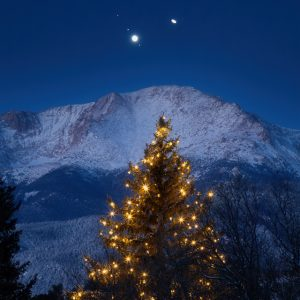 Christmas Star with Pikes Peak