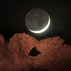 Kissing Camels Moonset