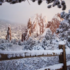 Garden of the Gods Winter Morning