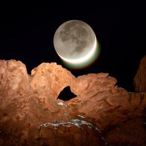 Kissing Camels Moonset