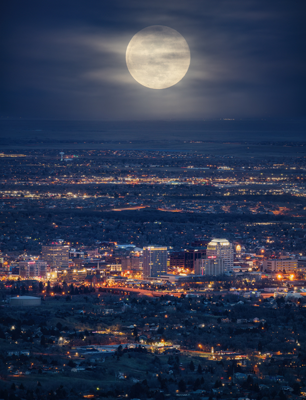 Colorado Springs Moonrise