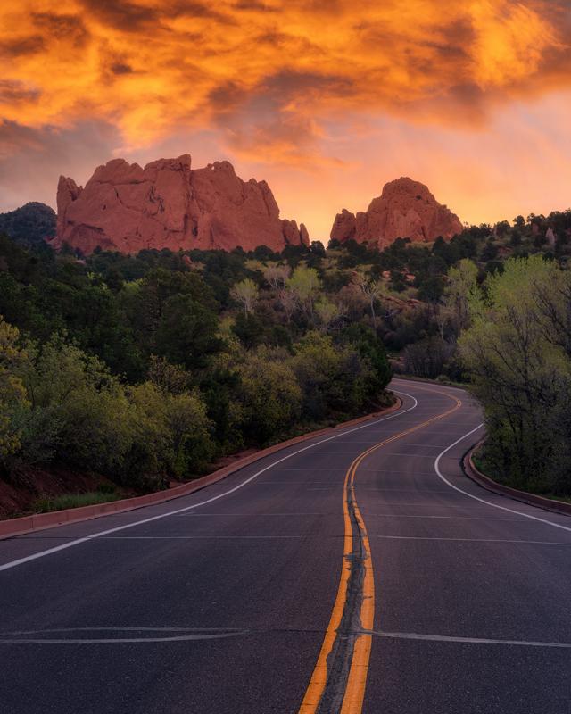 Garden of the Gods Sunrise Road