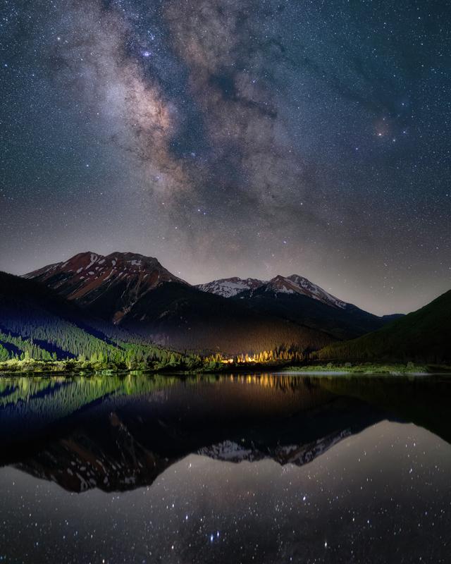 Crystal Lake Milky Way