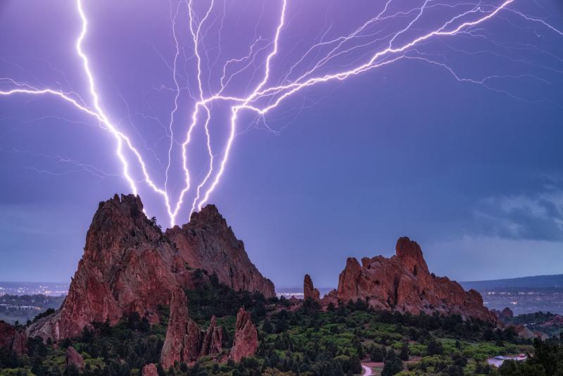 Lightning at Garden of the Gods
